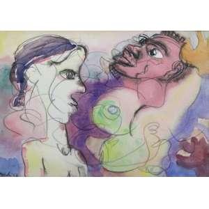 Maciej Babinski - S/T - aquarela - ass. cie - 1982 - 19x27 cm.