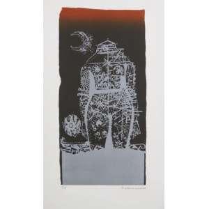 Odriozola - S/T - litografia - P.A. - ass. cid - 1977 - 59x33 cm - não emoldurada.