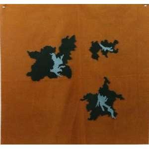 GUGA SZABZON - S/T - colagem de tecidos s/feltro - 50x50 cm - montagem em moldura de acrílico.