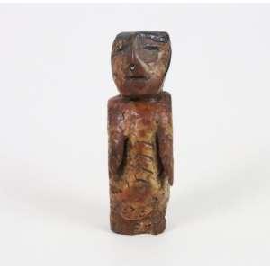 Conceição dos Bugres - Bugrinho - madeira entalhada, cera e tinta - sem assinatura - 14 cm de alt.