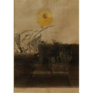 Odriozola - S/T - téc. mista s/ papel- ass. cie - 1967 - 49cm x 34cm