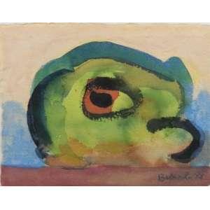 Maciej Babinski - S/T - aquarela - ass. cid - 1985 - 23x33 cm - etiqueta da galeria Luisa Strina no verso.