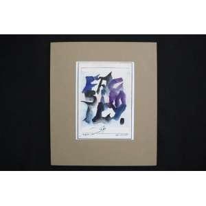 Ubirajara Ribeiro - Facsimile - aquarela s/ papel s/ cartão - ass. cid - 1975 - 17x12 cm - não emoldurada.