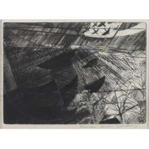 Evandro Carlos Jardim - S/T - gravura em metal - ass. cid - moldura sem o vidro - 15x21 cm.