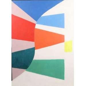 Mauricio Nogueira Lima - Doce Curva - AST - ass. verso - 1988 - 70x50 cm - apresenta alguns riscos na pintura.