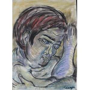 Marepe - S/T - pastel s/ papel - ass. cid - 2001 - 63x45 cm - não emoldurado.