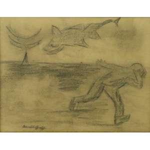 Oswaldo Goeldi - S/T - Carvão sobre cartão - ass. cie - 22x29 cm.