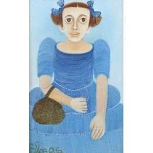 Elza OS - Menina c/ Vestido Azul - OST - ass. cie - 21x13 cm.