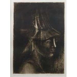 Marcelo Grassmann - Fig. Feminina - gravura em metal - ass. cid - Prova de artista - 37x27 cm.
