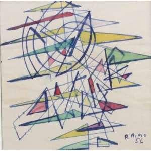 Leopoldo Raimo - S/T - nanquim e aquarela / papel - 10x9,5 cm - ex-coleção Leopoldo Raimo Filho.