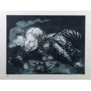 Marcelo Grassmann - Fig. Feminina - gravura em metal - 15/50 - ass. cid - 36x 52 cm - pequenas marcas de dobra no paspartur da gravura.
