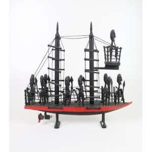 Jose Alves de Olinda - Navio Negreiro - Arte Popular em madeira - 54x12x57 cm - assinado na lateral esquerda.