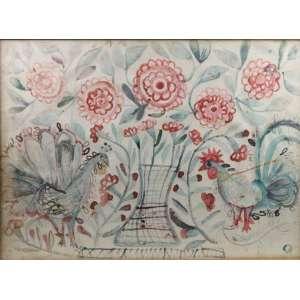 Maria do Santíssimo - Flores - aquarela - 48x66 cm - ass. não localizada.