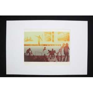 Bernardo Cid - Imagem 6 - litografia - 24/40 - ass. cid - 1978 - 33x42 cm - não emoldurada.