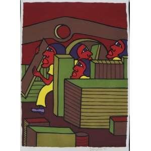 Ivonaldo - S/T - Serigrafia - 29/100 - ass. cid - 48x33 cm - não emoldurada.