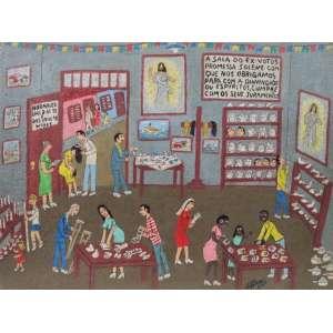 Tavares - A Sala dos Ex-votos - OSM - ass. cid - 30x39 cm.