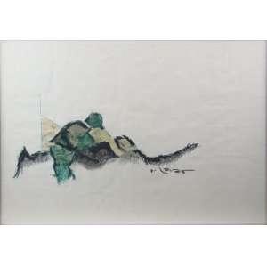 NELSON LEIRNER - Abstrato , guache sobre papel , CID - 40 x 58 cm.