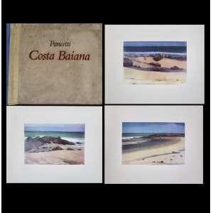 Pancetti, Costa Baiana - álbum com 34 pranchas reproduzindo obras do autor - apresentação de Carybé - 1981 - 41x51 cm - estojo no estado com manchas do tempo.