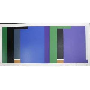 Sued - S/T - serigrafia - P.A. - ass. cid - 70x146 cm - não emoldurada.