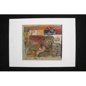 Marinaldo Santos - S/T - técnica mista s/ cartão - ass. cie - 1988 - 19x22 cm - não emoldurado.