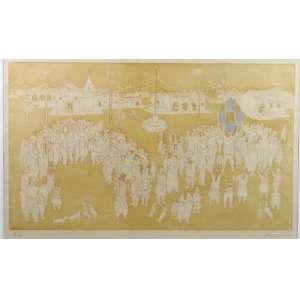 Pennacchi - Festa Junina - gravura em metal - P.A. - ass. cid - 1981 - 30x51 cm.