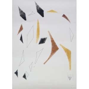 Aluisio Rocha Leão - S/T - Serigrafia - 28/50 - ass. cid - 70x50 cm - não emoldurada - apresenta mancha amarelada.
