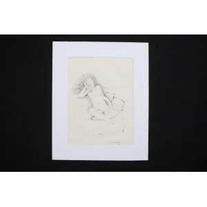 Anatol Wladislaw - Nu Feminino - nanquim s/ papel - ass. cid - 1980 - 31x23 cm - não emoldurado.