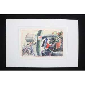 Aloysio Zaluar - Da Descoberta Da América - pastel s/ papel - ass. cid - 1991 - 31x48 cm - não emoldurado.