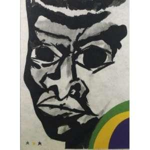 Aldemir Martins - Pelé - serigrafia P.A. - ass. cid - 1972 - 60x47 cm.