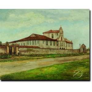 Benedito Calixto. Mosteiro da Luz. Óleo sobre tela, 40,7 x 51 cm. Assinado e datado embaixo à esquerda: B. Calixto1909. Acompanha laudo de expertise emitido por Celso Calixto Rios.