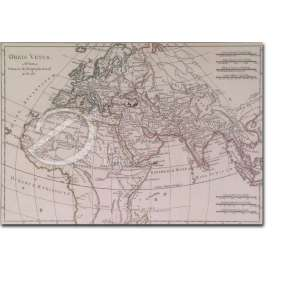 Orbis Vetus. A Rto. Bona Primario Hydrographo Navali -April 1781. Mapa, 26,5 x 36 cm. Embaixo à esquerda: Perrier sculp.<br>