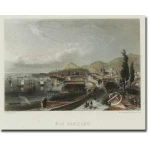 Ed. Wuillmann.<br>Rio de Janeiro. Litografia colorida, 10 x 14,5 cm, impressa por Chardron aine - Paris. França, séc. XIX.<br>