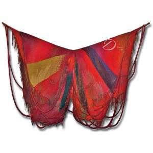 Noberto Nicola.<br>Borboleta. Tapeçaria de lã; 380 x 450 cm. No meio, à direita, etiqueta de tecido assinada Nicola.<br>