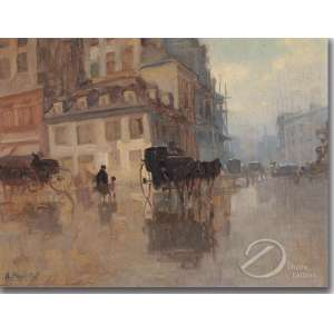 Attilio Pratella - Atribuído - Paisagem Europeia. Óleo sobre madeira, 27 x 35 cm. Assinado embaixo à esquerda: A. Pratella.