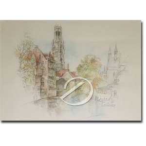 Bernadette - Casario e Torre. Reprodução sobre papel, 29 x 39 cm.