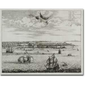 Meurs, J. Sinus Omnium Sanctorum. Litografia, 28 x 35 cm, Londres, 1671.