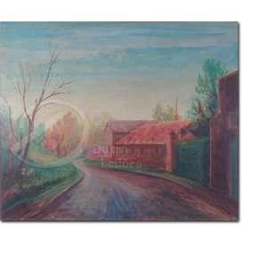 Guido Totoli - Paisagem. Óleo sobre tela, 53 x 63 cm. Assinado embaixo à direita: G. Totoli.