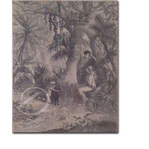The First Familia. Litografia, 21 x 18,5 cm. Assinado no canto inferior direito; W. Thomas. S.
