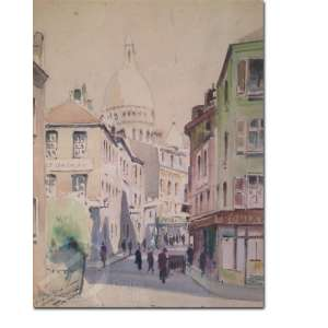 Autoria não identificada. Paris. Aquarela, 31,5 x 24 cm. Assinado embaixo à esquerda.