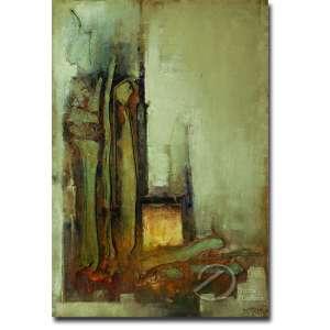Dario Mecatti - Abstrato. Óleo sobre tela, 80 x 55 cm. Assinado embaixo à direita: D. Mecatti.