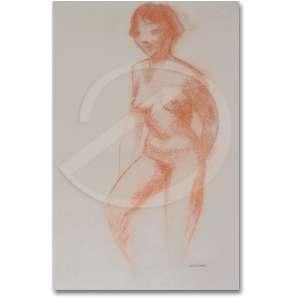 Gomide, Antonio Goncalves (1895 - 1967) - Nu feminino. Sanguínea, 48,5 x 31,5 cm. Assinado embaixo a direita: Gomide.