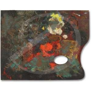 Inima de Paula - Palheta do Artista. Diversas tintas sobre placa, 27 x 34,7. Assinada: Inima.