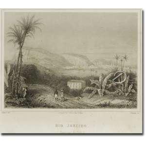 Joanny - Rio de Janeiro. Xilogravura, 10,5 x 14 cm, impressa por Sarrazin Paris. França, séc. XIX.