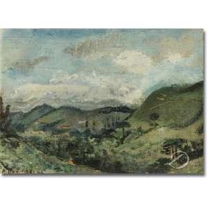Aldo Bonadei - Paisagem de Campos do Jordão. Óleo sobre placa, 30 x 39 cm. Assinado e datado embaixo à esquerda: A. Bonadei 43. No verso, etiqueta de A Galeria - São Paulo.