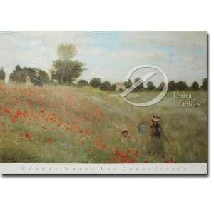 Claude Monet - Les Coquelicots. Reprodução gráfica sobre papel, 78,5 x 58 cm.