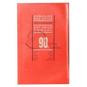 Annuaire des cotes international arte Price annual - 90, 2191 pág - 30 x 19,5 cm - 1989. Editora - Aubin Imprimeur - Idioma Francês