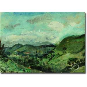 Aldo Bonadei. Paisagem de Campos do Jordão. Óleo sobre placa, 30 x 39 cm. Assinado e datado embaixo à esquerda: A. Bonadei 43. No verso, etiqueta de A Galeria - São Paulo.