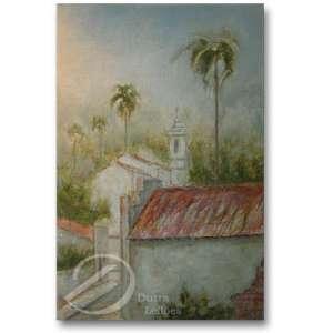 Enjoi. Igreja com Coqueiros. Óleo sobre tela, 79 x 58,5 cm. Ass. cie.