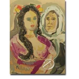 Mané Katz (1894-1962). Mãe e Filha. Litografia colorida assinada na placa embaixo à esquerda. Série de 12 aquarelas editadas em Paris por A. Manarauche. 49x64cm. França, c.1966. Foram impressos 300 exemplares.