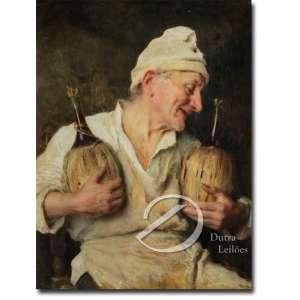 Giovanni Boldini - Il Bevitore de Vino. Óleo sobre tela, 78,5 x 59,5 cm. Assinado e datado em cima à esquerda: G. Boldini 19... ilegível por oxidação do verniz, necessitando de limpeza.